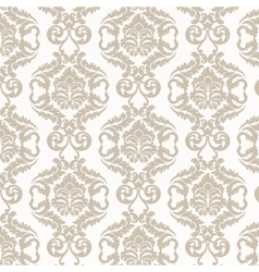Damask luxury pattern vector image