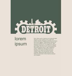 Detroit word build in gear vector