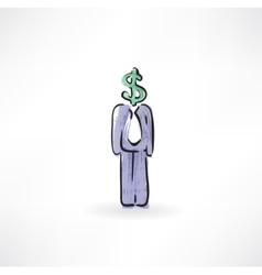 dollar instead of a head vector image