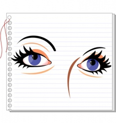 eye make-up vector image