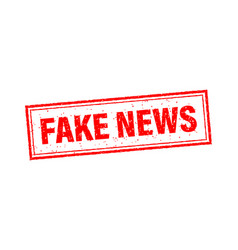 Fake news stamp in flat style on white background vector