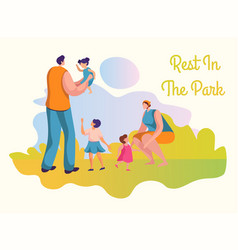 family activities flat set vector image