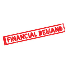 Financial demand rubber stamp vector