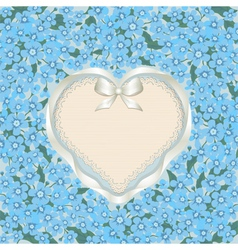 Forget me not heart vector