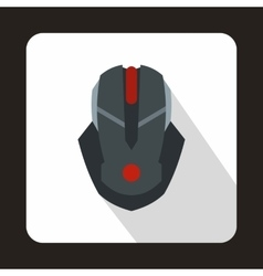 Gaming mouse icon flat style vector image