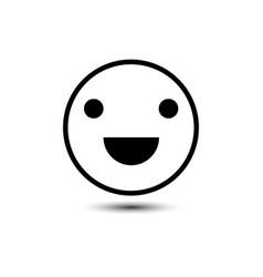 Happy smiley face emoticon line art icon vector