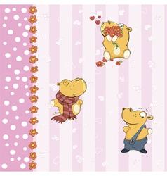 Hippopotamus background 6 vector image vector image