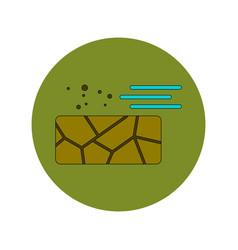 In flat design of cracked vector