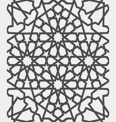 islamic pattern seamless arabic geometric vector image