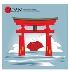 Itsukushima shrine japan landmark vector