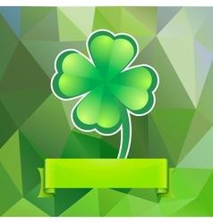 Leaf clover on a green background vector image