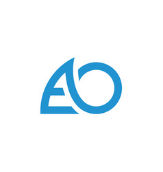Letters ao fast movement geometric line logo vector