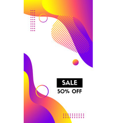 Liquid template for social media stories abstract vector