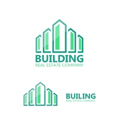 logo for construction company vector image