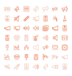 loud icons vector image