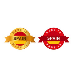made in spain label stamp for product manufactured vector image