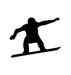 Male snowboarder vector