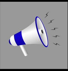 megaphone isolated on white background vector image