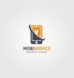 Mobile service logo template vector