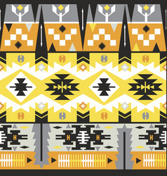 Native aztec seamless pattern tribal colorful vector