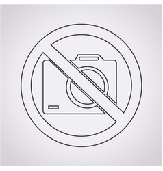 no photo icon vector image