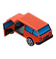 open door suv car icon isometric style vector image