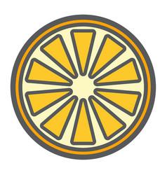 Orange line icon fruit and vitamin vector