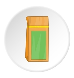 Paper bag icon cartoon style vector