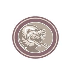 Rattle Snake Head Retro vector image