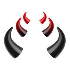 red and black devil horns vector image