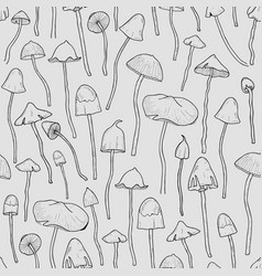 seamless pattern with psilocybin or hallucinogenic vector image