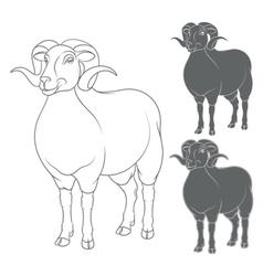 Set of depicting sheep vector