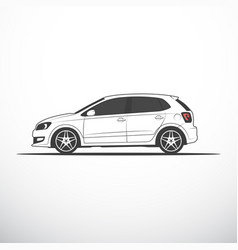 side view of car vector image