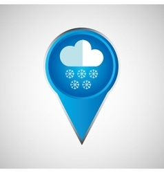 signal weather cloud snow pin design vector image