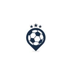 soccer point logo icon design vector image