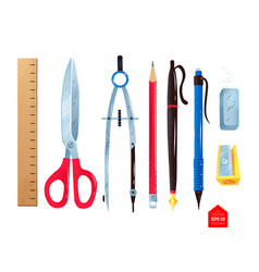 stationery supplies vector image