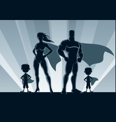 superhero family 2 boys vector image
