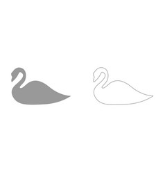 Swan it is icon vector