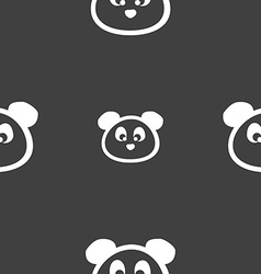 Teddy Bear icon sign Seamless pattern on a gray vector