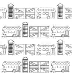 Telephone bus flag of london design vector