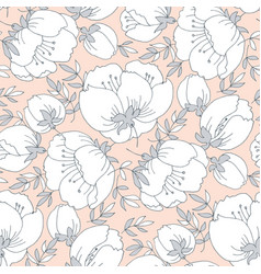 Tender simple rose flower seamless pattern vector