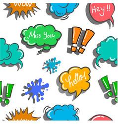 Text balloon style doodles vector