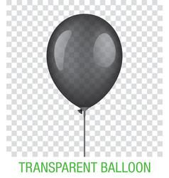 transparent black ballon vector image vector image