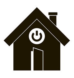 turn on button smart house icon simple style vector image