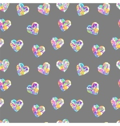 Valentine diamond seamless pattern vector