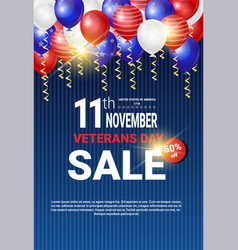 veterans day sale celebration shopping promotions vector image