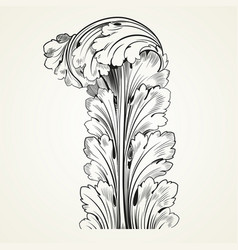 vintage tattoo floral ornament vector image