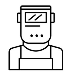 welder man icon outline style vector image