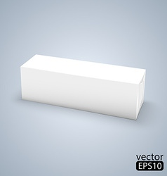white wrap box package vector image