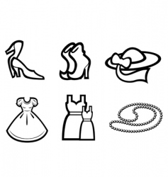 woman fashion elements vector image